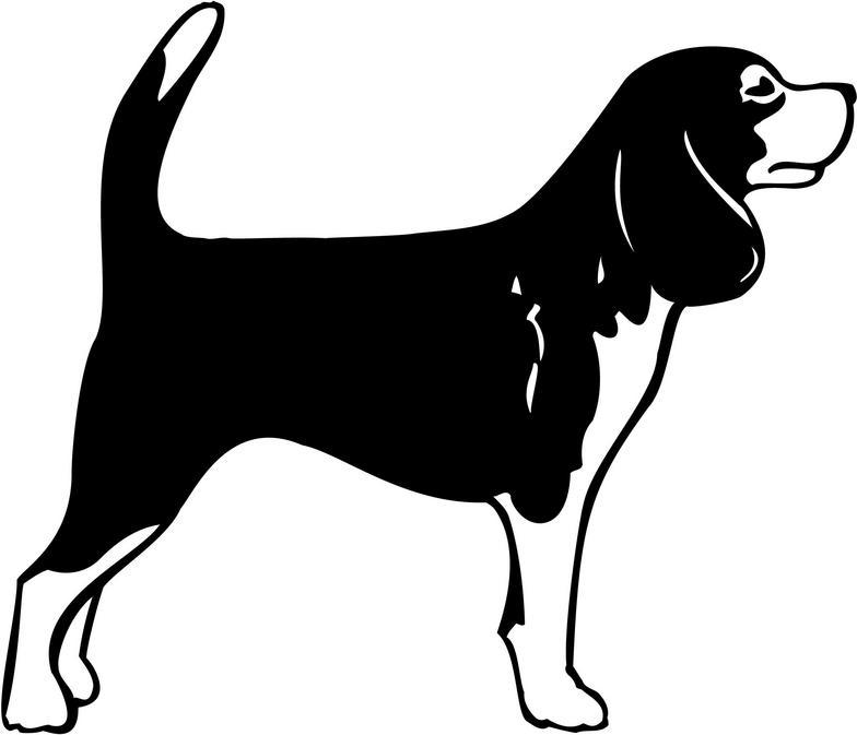Beagle clipart beagle hunting. Clip art black and