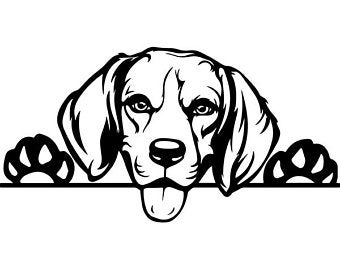 Collage etsy . Beagle clipart beagle line