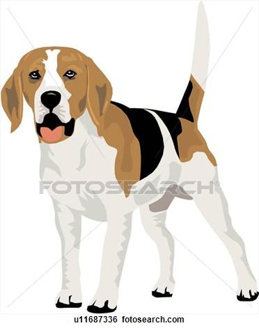 Beagle clipart beagle line. Cliparts drawing