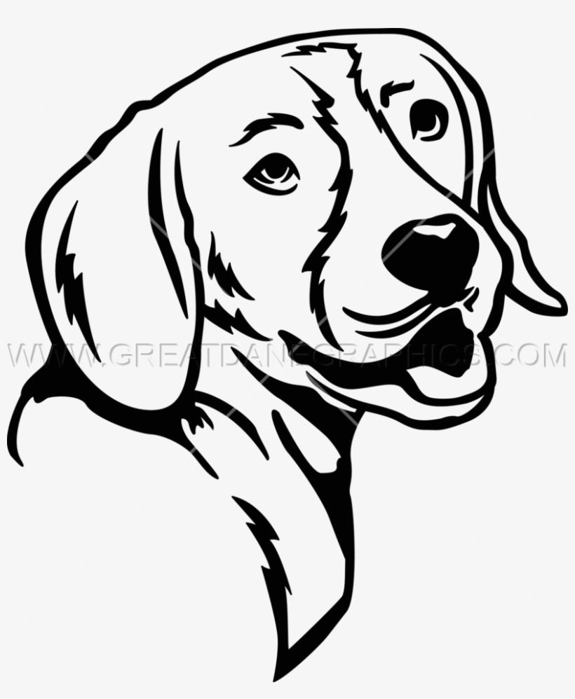 Line art transparent . Beagle clipart black and white