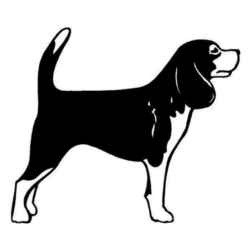 cm dog car. Beagle clipart black and white