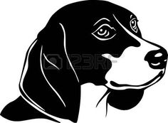 Beagle clipart black and white. Dog graphics svg dxf