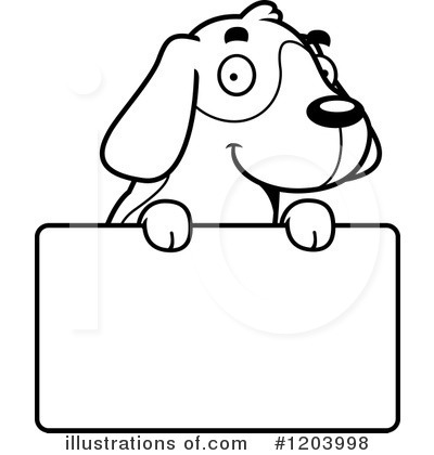 Beagle clipart black and white. Illustration by cory thoman