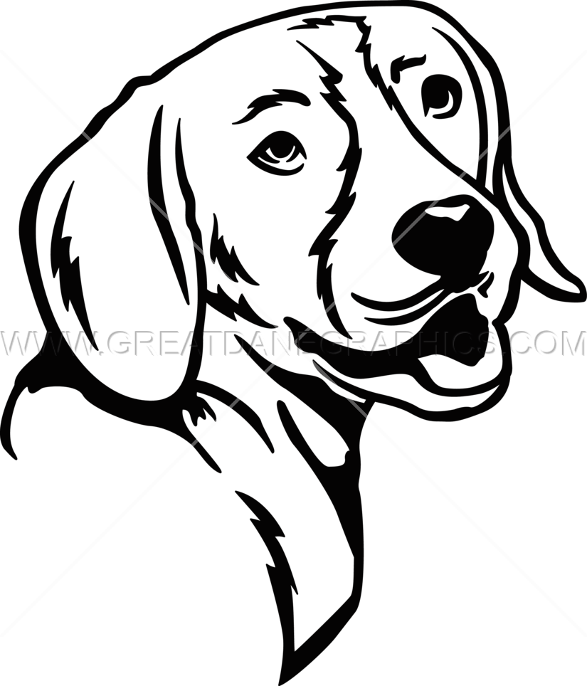 Beagle clipart black and white. Line drawing at getdrawings