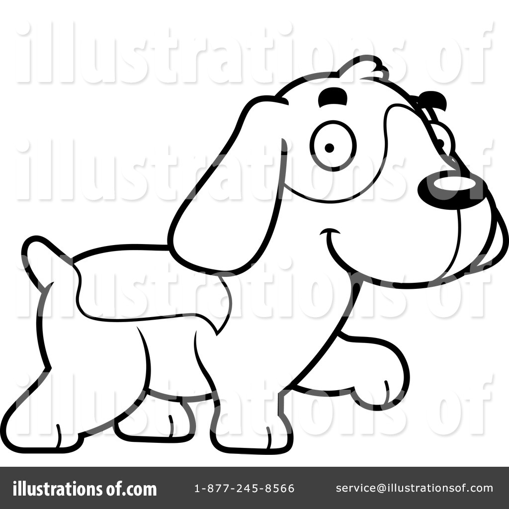 Illustration by cory thoman. Beagle clipart black and white