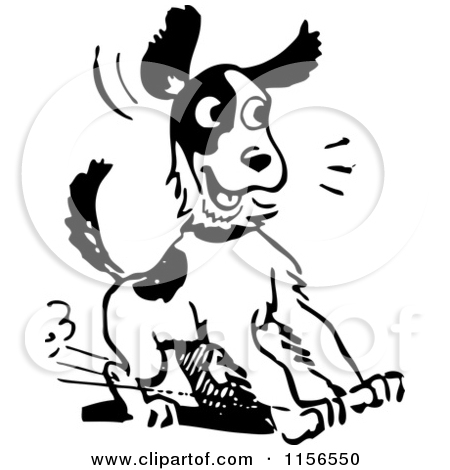 Beagle clipart black and white. Clip art of a