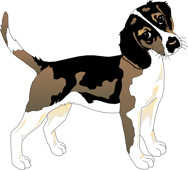 Clip art at clker. Beagle clipart black and white