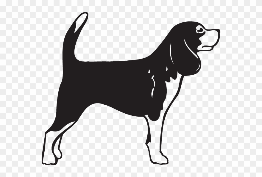 Svg transparent playful puppy. Beagle clipart black and white