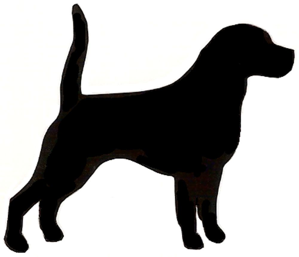 Beagle clipart bloodhound. Puppy silhouette clip art