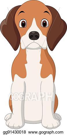 Vector stock happy dog. Beagle clipart cartoon