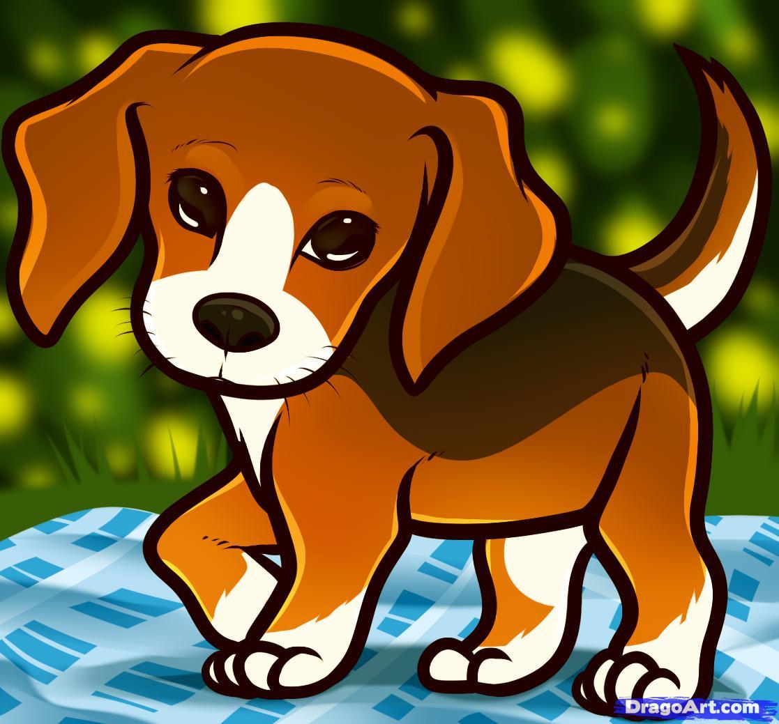 Beagle clipart cartoon. Sad pencil and in