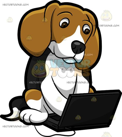 Dog shadow . Beagle clipart cartoon
