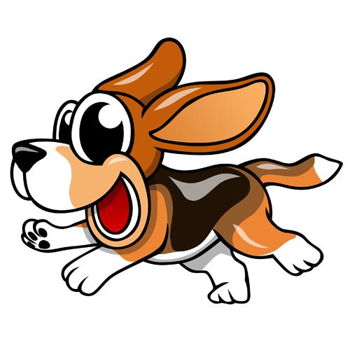 Beagle clipart cartoon. Clayton clipground animated