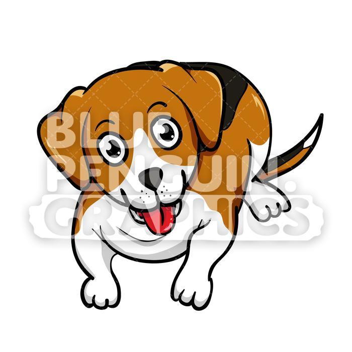 Beagle clipart cartoon. Laying on floor vector
