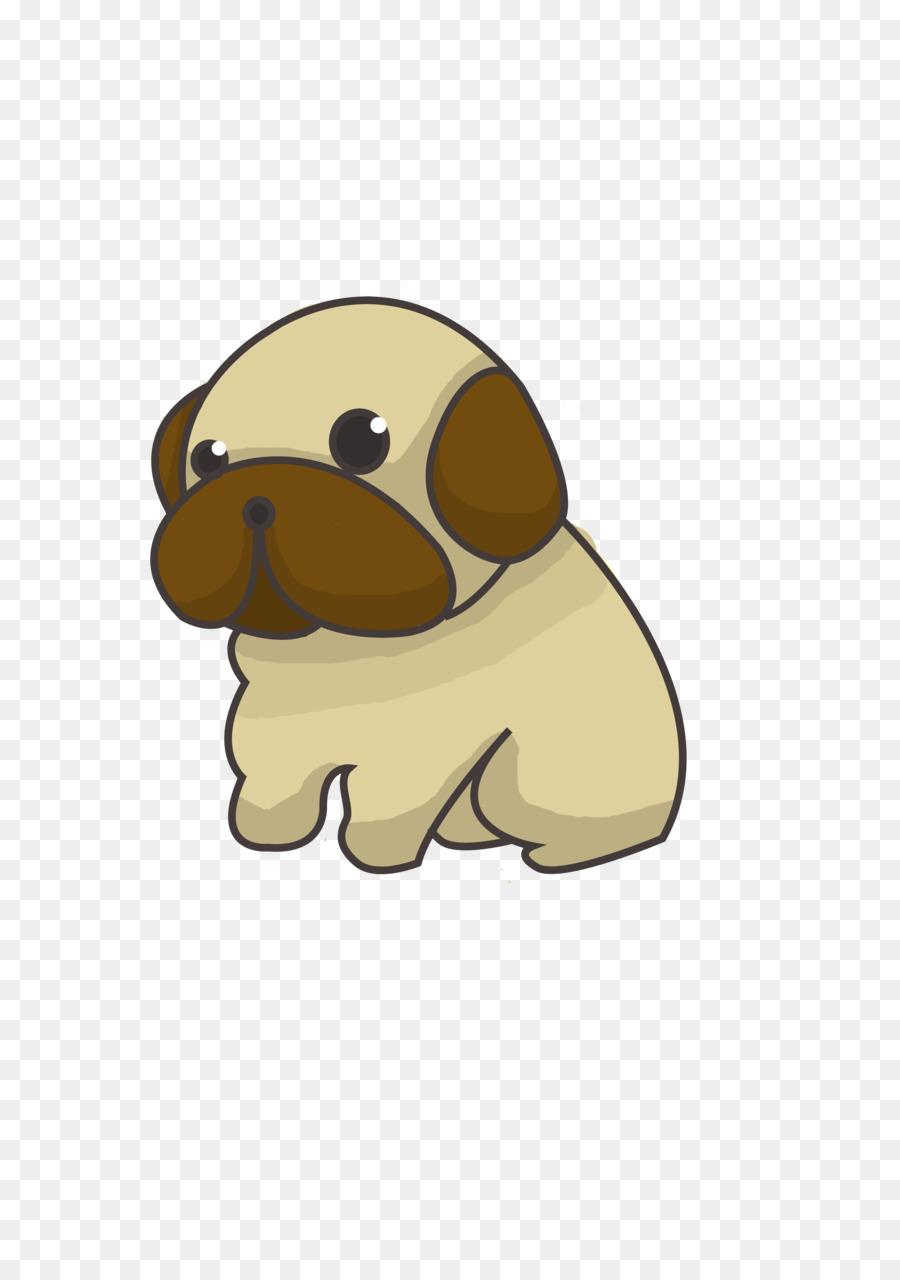 Beagle clipart chibi. Pug puppy drawing png