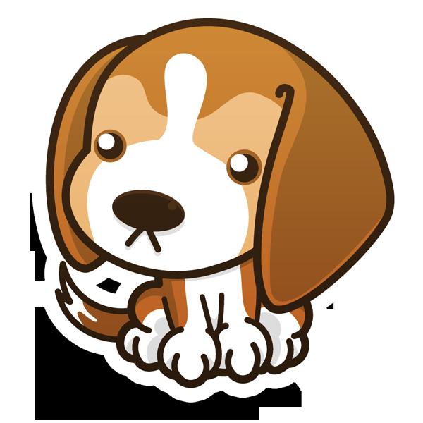 Beagle clipart chibi. Mokiplanet s funny puppies