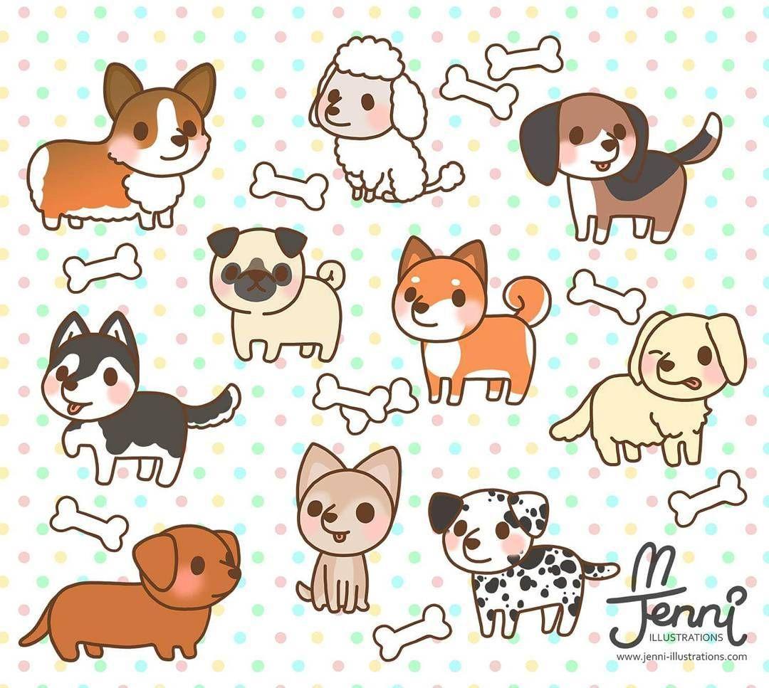 Cute dogs . Beagle clipart chibi