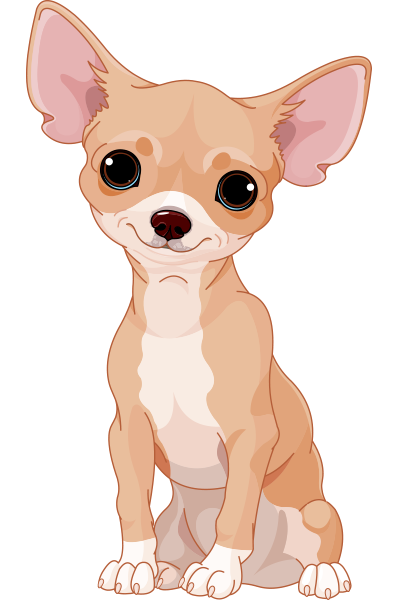 Sweet chihuahua pinterest art. Beagle clipart chiwawa