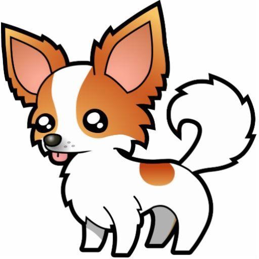 Cartoon chihuahua red parti. Beagle clipart chiwawa