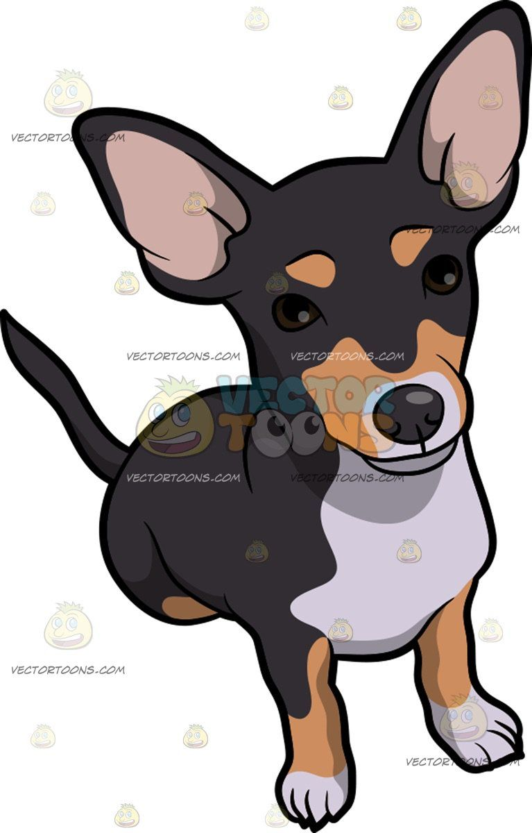 A cute dog with. Beagle clipart chiweenie