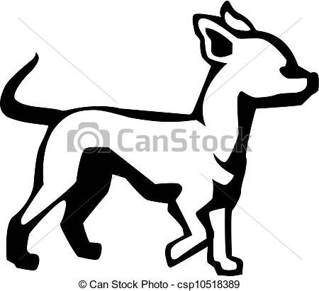 Vector chihuahua stock illustration. Beagle clipart chiweenie