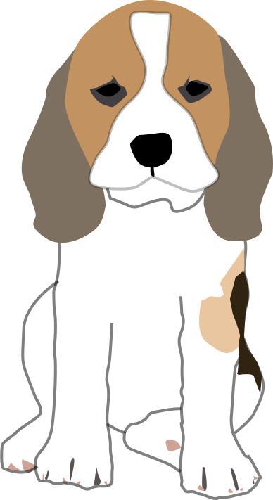Beagle clipart collie puppy. Design droide