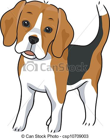 Beagle clipart cute.