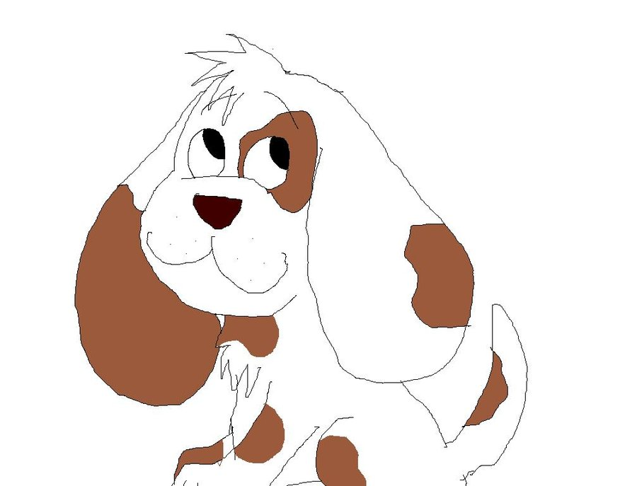 Cartoon puppy by whispering. Beagle clipart cute