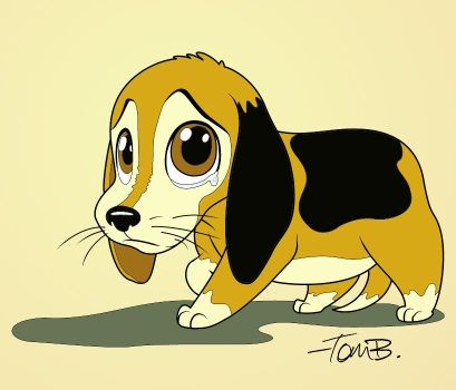 Sad standing the cliparts. Beagle clipart cute