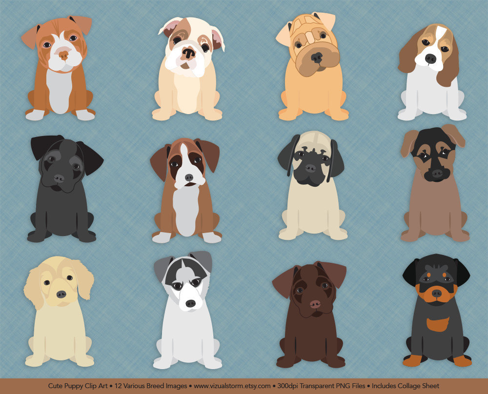 Beagle clipart cute. Dog clip art puppies