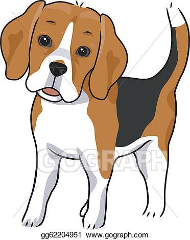 Beagle clipart dog owner. Vector art eps gg