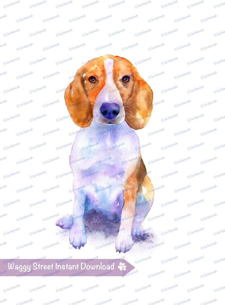 Printable watercolor mug t. Beagle clipart dog owner