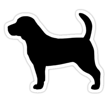 Silhouette s sticker by. Beagle clipart dog shadow