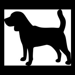 Silhouette s . Beagle clipart dog shadow