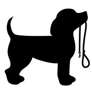 Beagle clipart dog shadow. Puppy holding a leash