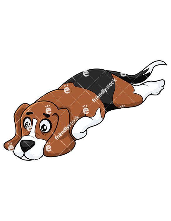 Beagle clipart dogl. Dog laying down feeling