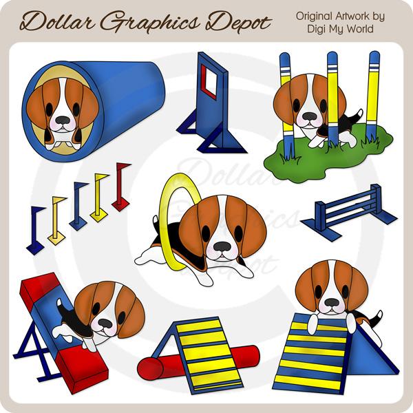 Dog agility clip art. Beagle clipart dogl