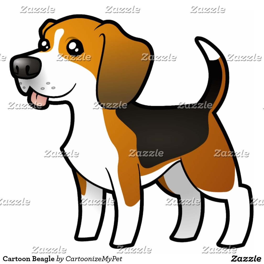 Del dibujo animado im. Beagle clipart dry dog