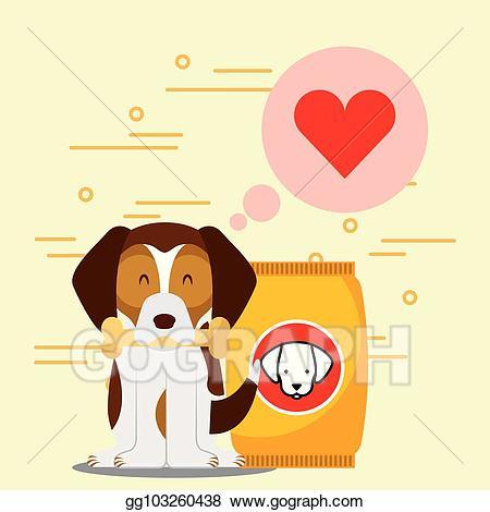 Vector art animal domestic. Beagle clipart dry dog