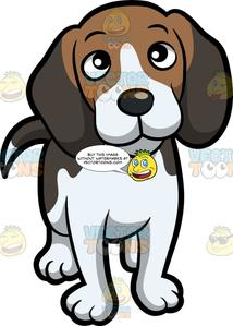 An adorable with inquisitive. Beagle clipart face