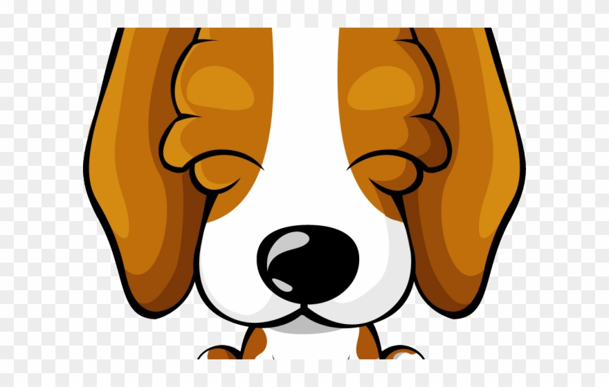 Beagle clipart face. Pup cartoon png transparent