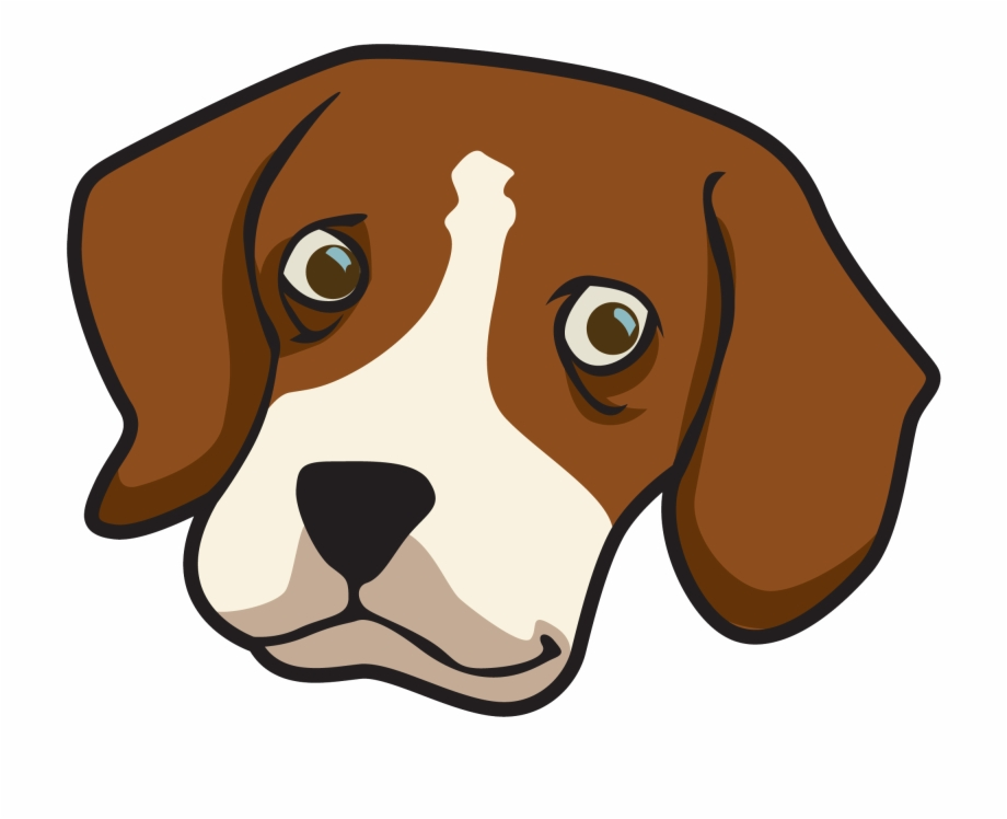 Dog transparent clip art. Beagle clipart face