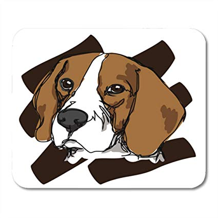 Beagle clipart face. Amazon com semtomn gaming