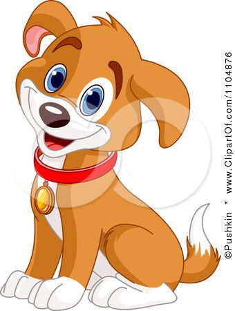 Cute dog sitting and. Beagle clipart happy puppy