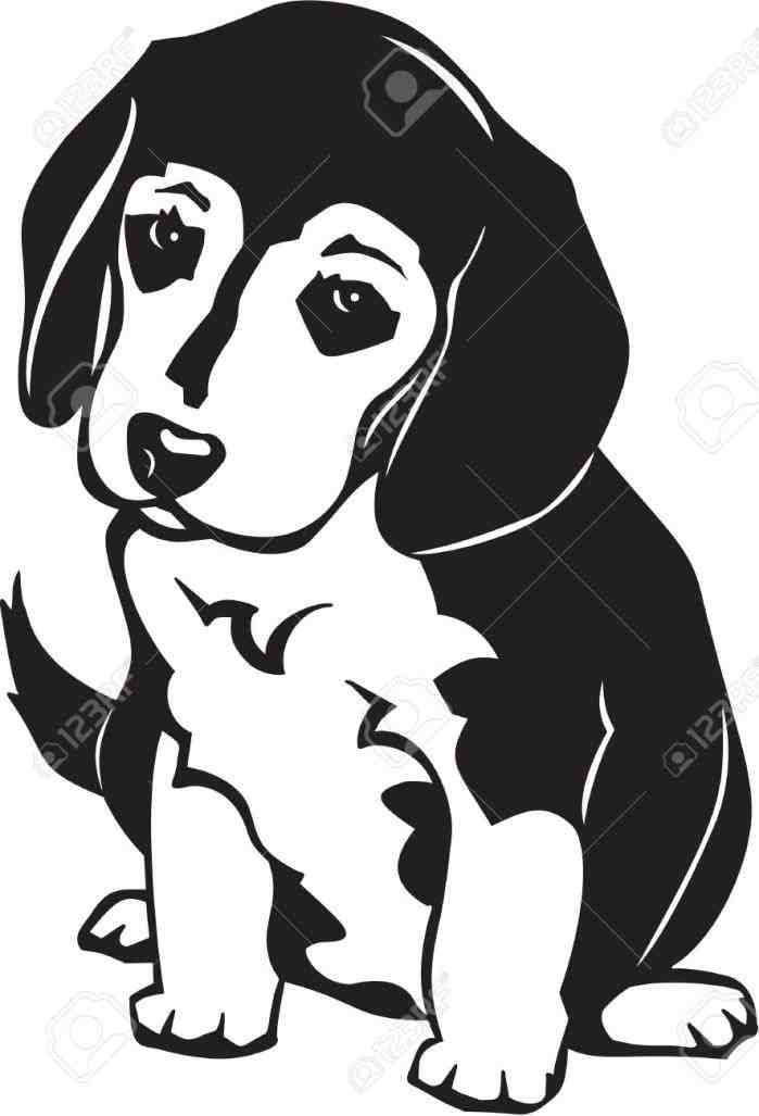Beagle clipart head. Silhouette at getdrawings com