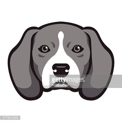 Mascot premium clipartlogo com. Beagle clipart head