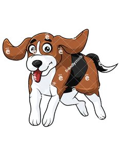 Patiently waiting for food. Beagle clipart hound dog