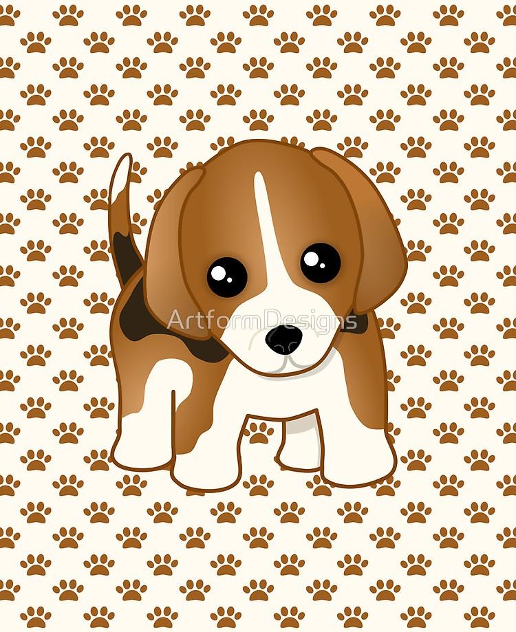 Beagle clipart little puppy. Cute dog ipad case