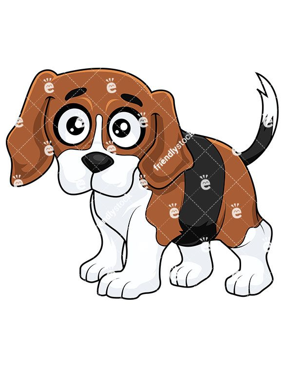 Cute with hazel eyes. Beagle clipart little puppy