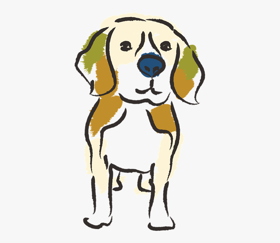 Beagle clipart lost dog. Brush japanese style free